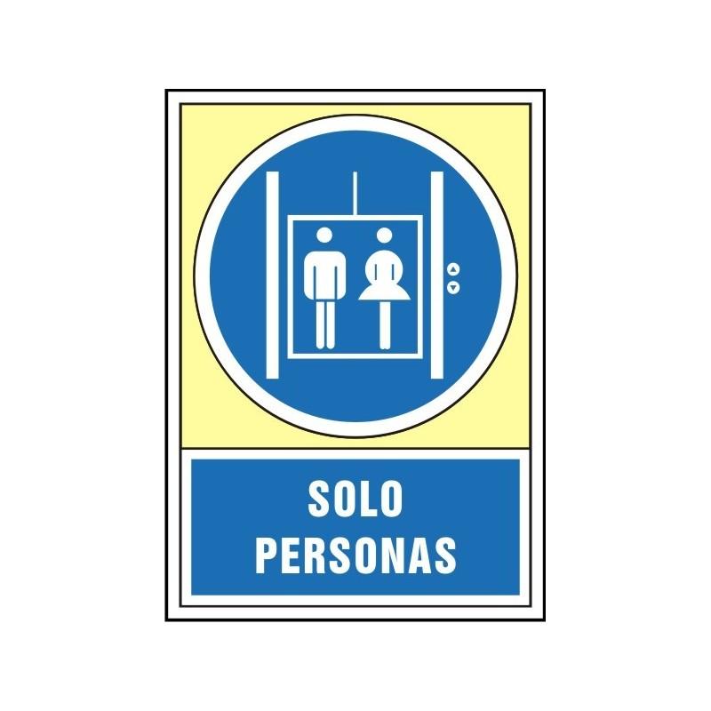 4049S-Señal Sólo personas - Referencia 4049S