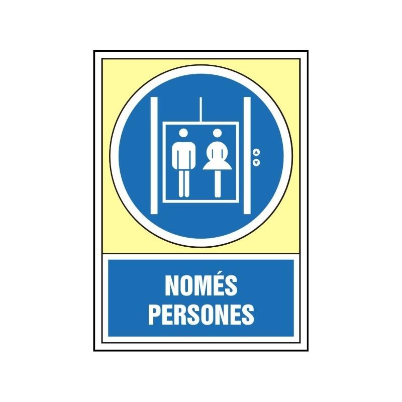 4049S-Senyal Només persones - Referència 4049S