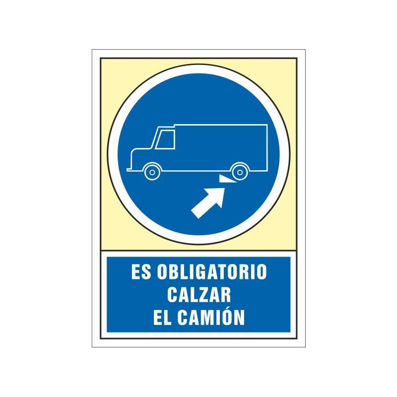4054S-Señal Es obligatorio calzar el camión - Referencia 4054S