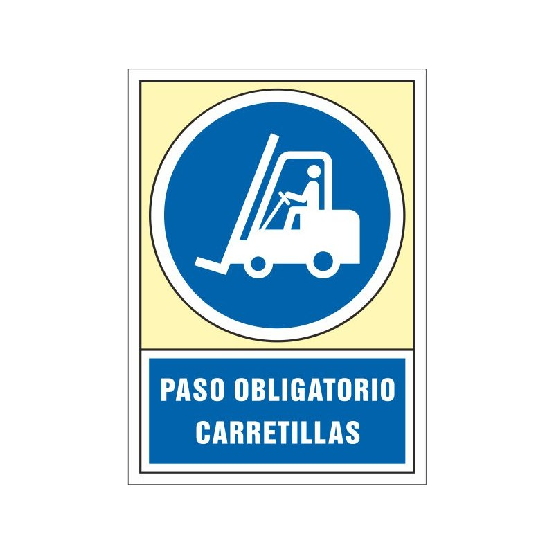 4056S-Señal Paso obligatorio carretillas - Referencia 4056S
