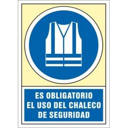 SYSSA,Señal Es obligatorio el uso del chaleco de seguridad