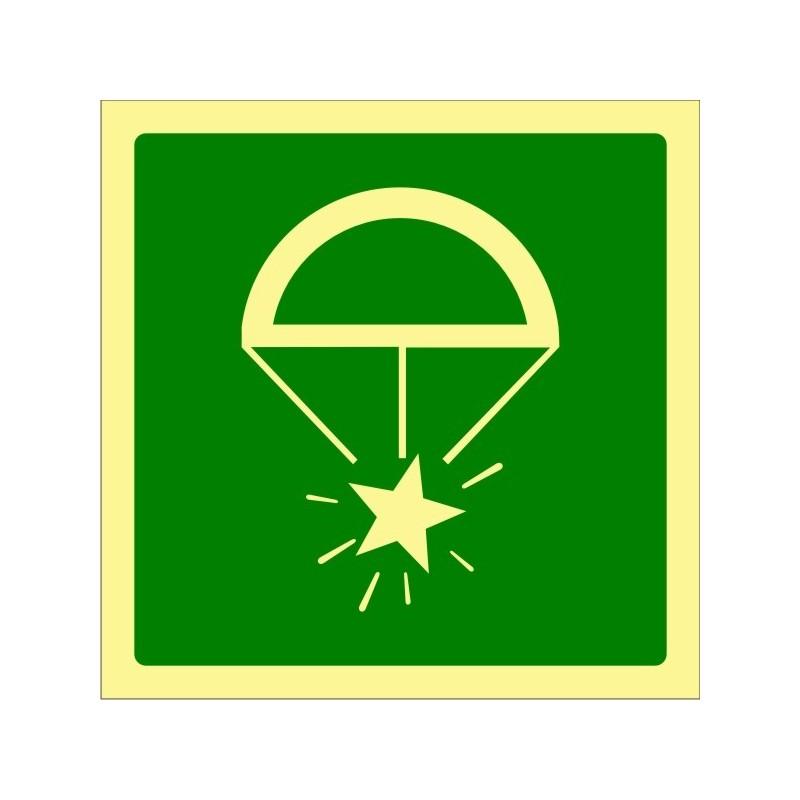 428F-OMI - Bengales de socors amb paracaigudes fotoluminiscent - Referència 428F
