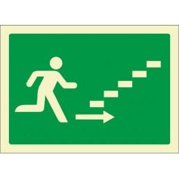 SYSSA,Señal Escalera de emergencia arriba derecha