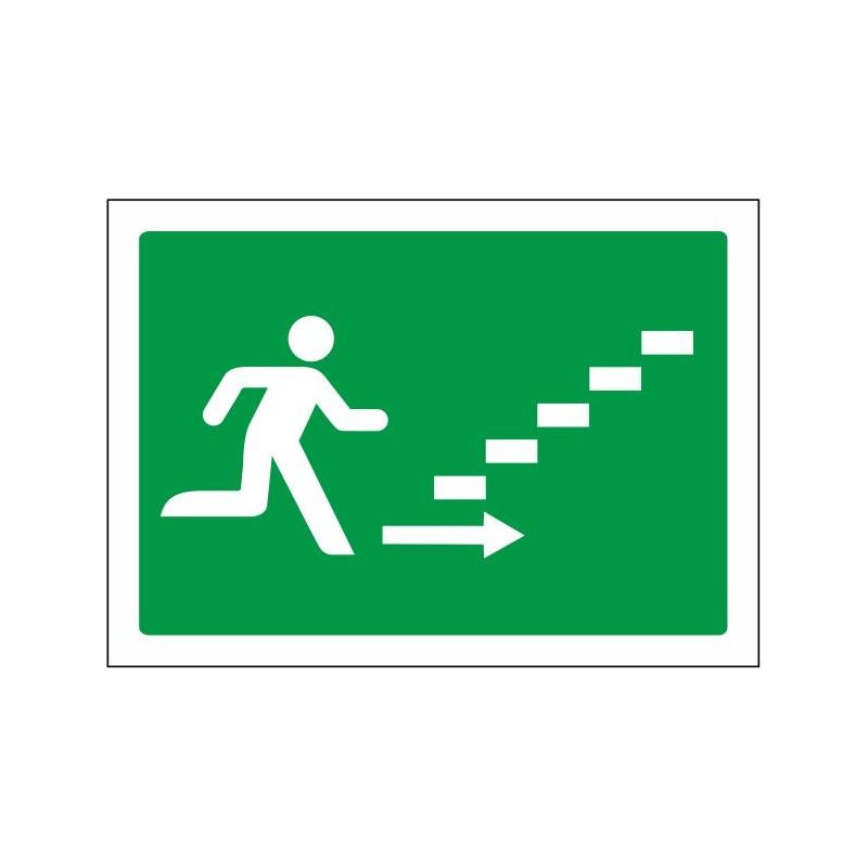 5027S-Señal Escalera de emergencia arriba derecha - Referencia 5027S