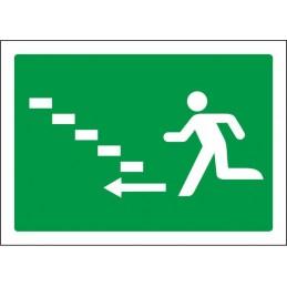 SYSSA,Señal Escalera de emergencia arriba izquierda