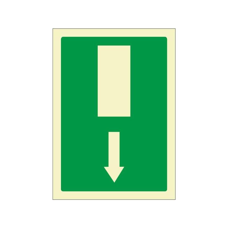 5070F-Señal Salida de emergencia flecha abajo Fotoluminiscente - Referencia 5070F