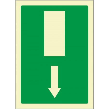 Salida de emergencia flecha abajo