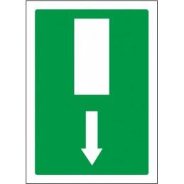 Sortida d'emergència fletxa...