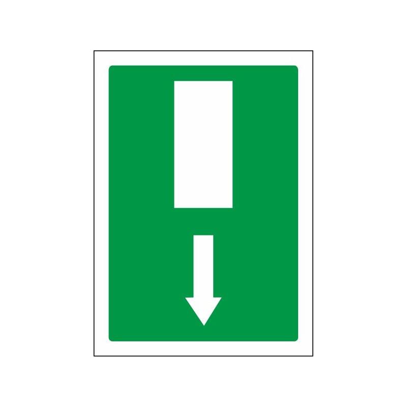 5070S-Señal Salida de emergencia flecha abajo - Referencia 5070S