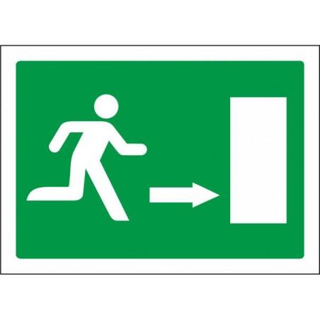 Salida de emergencia flecha derecha