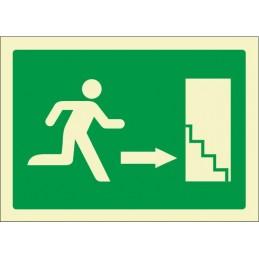 Escala d'emergència avall...