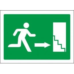 SYSSA,Señal Escalera de emergencia abajo derecha