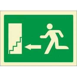 SYSSA,Señal Escalera de emergencia abajo izquierda