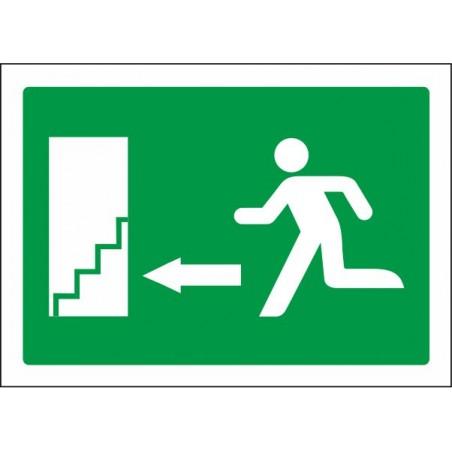 Escala d'emergència avall fletxa esquerra