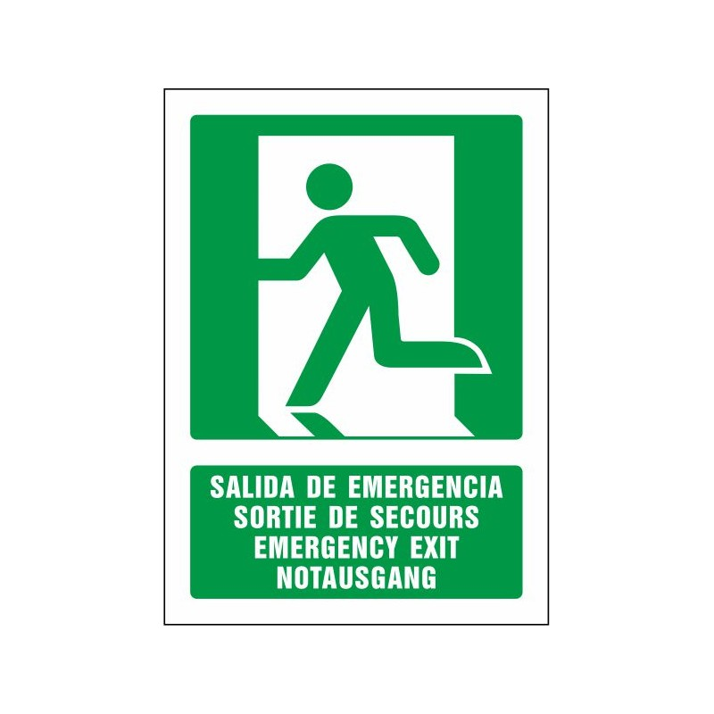 5080S-Salida de emergencia (cuatro idiomas)