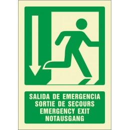 Sortida d'emergència avall...