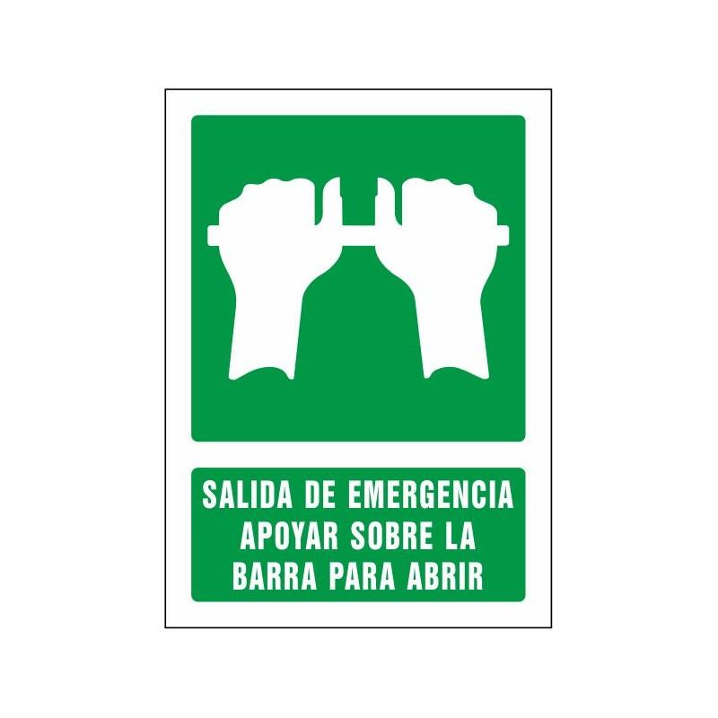 5087S-Señal Salida de emergencia apoyar sobre la barra para abrir - Referencia 5087S
