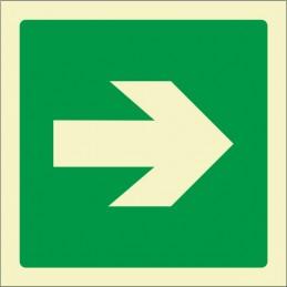 Senyal Via d'evacuació...