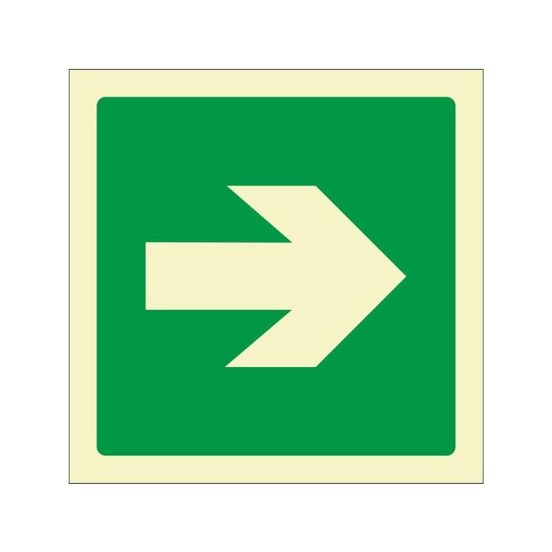7010F-Placa Vía de evacuación Fotoluminiscente - Referencia 7010F