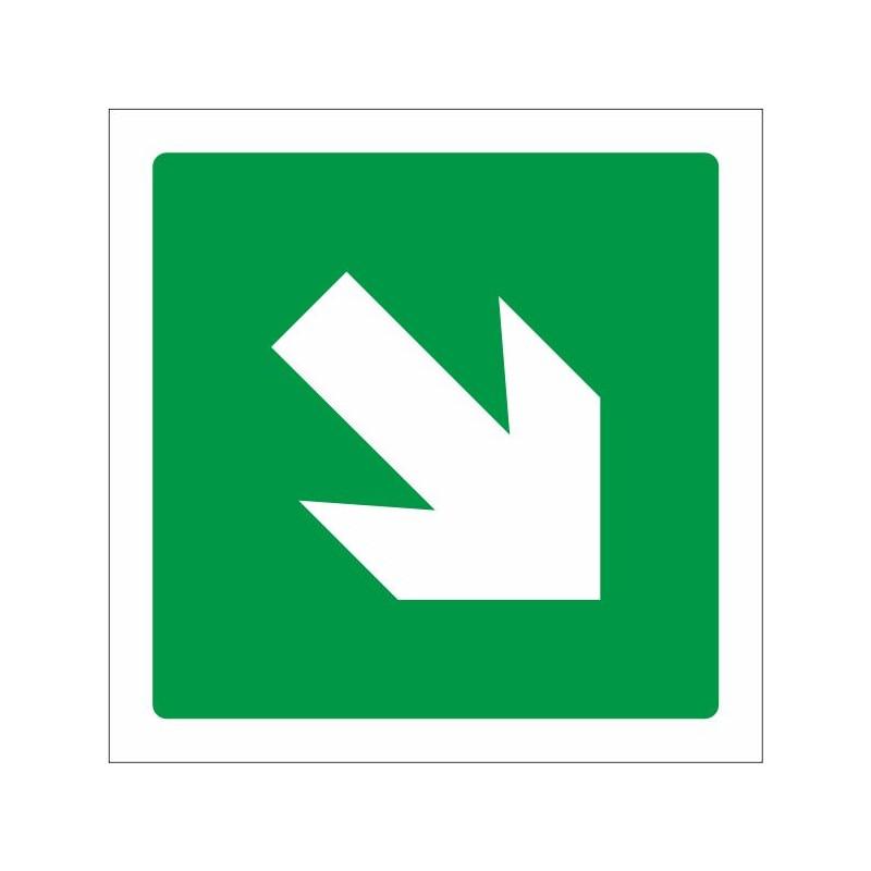 7011S-Placa Vía de evacuación - Referencia 7011S