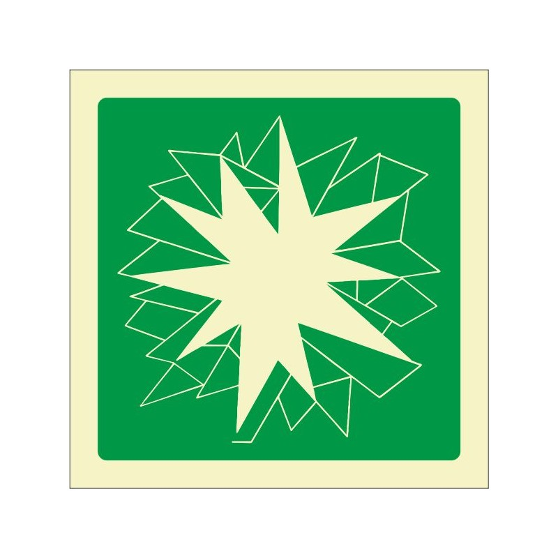 7031F-Senyal de Trencar en cas d'emergència - Referència 7031F