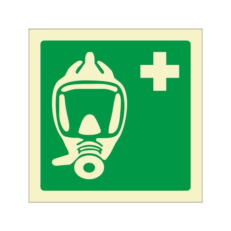 7067F-Placa Máscara de emergencia - Fotoluminiscente - Referencia 7067F