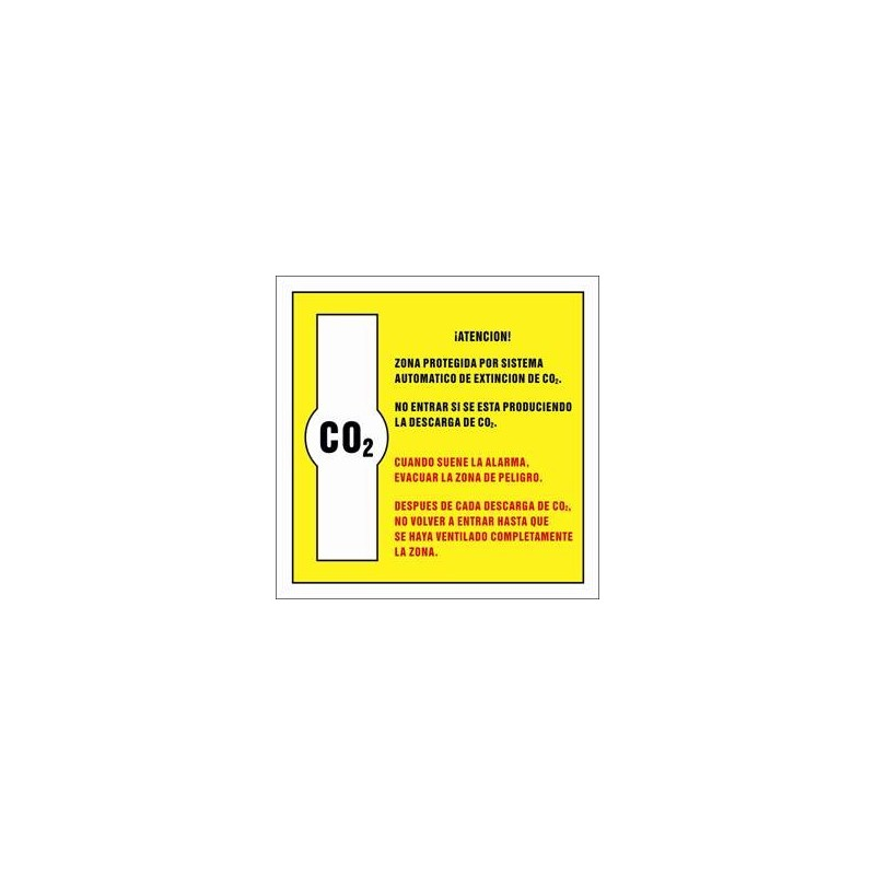 7070S-Zona protegida por sistema automático de extincion de CO2