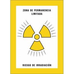 SYSSA,Señal Zona de permanencia limitada Riesgo de irradiación