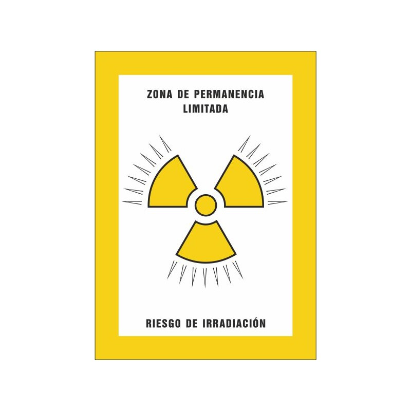 8001S-Zona de permanencia limitada Riesgo de irradiación