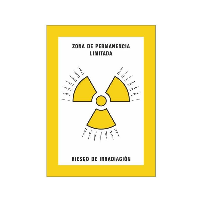 8001S-Zona de permanència limitada. Risc d'irradiació