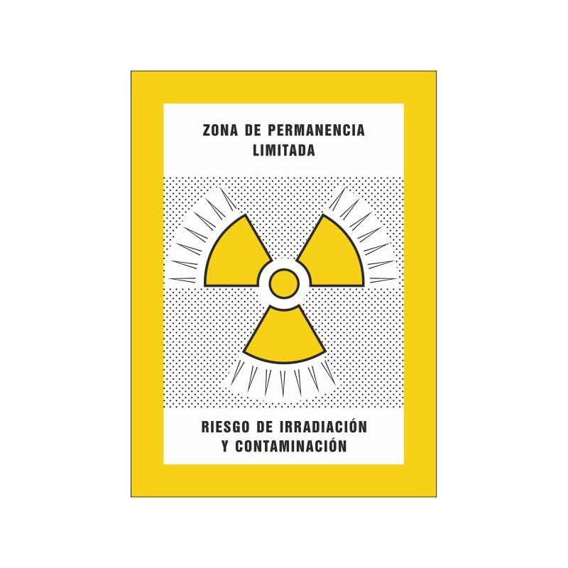 8003S-Zona de permanència limitada. Risc d'irradiació i contaminació