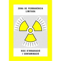 SYSSA,Señal Zona de permanencia limitada Riesgo de irradiación y conta