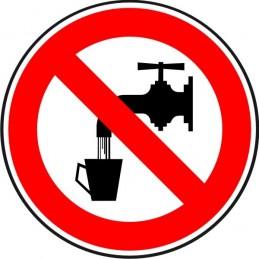 SYSSA,Señal Agua no potable. Prohibido beber