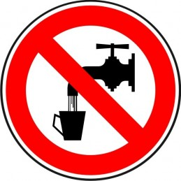 SYSSA, Senyal  Aigua no potable. Prohibit beure