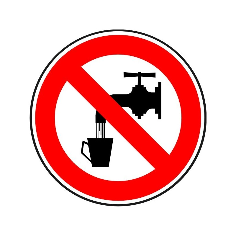 ANPB-Aigua no potable. Prohibit beure