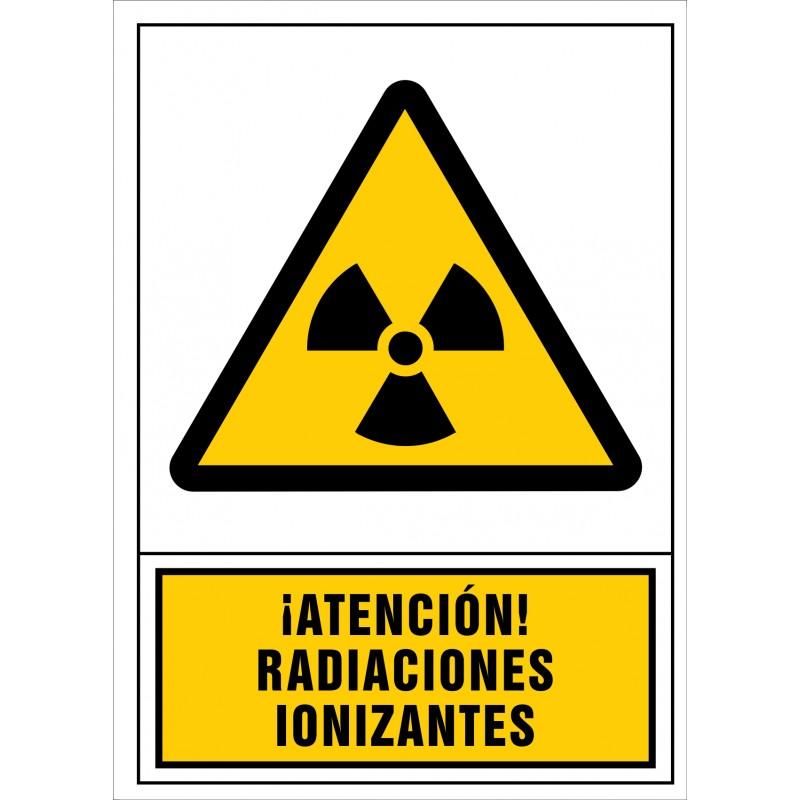 2053S-Señal de ¡Atención! Radiaciones ionizantes - Referencia 2053