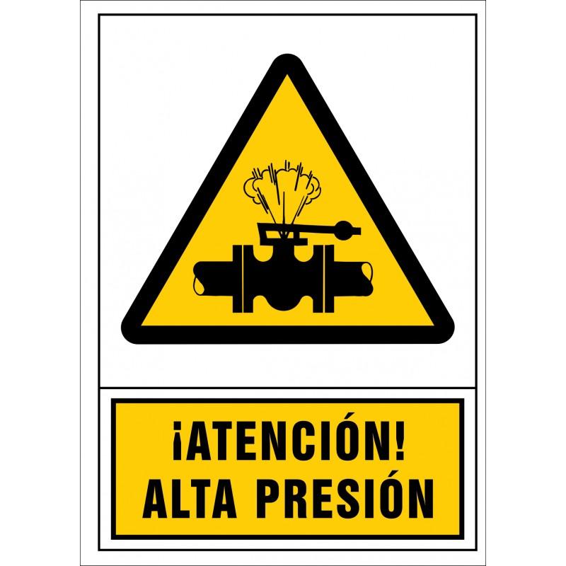 2074S-Señal de ¡Atención! Alta presión - Referencia 2074