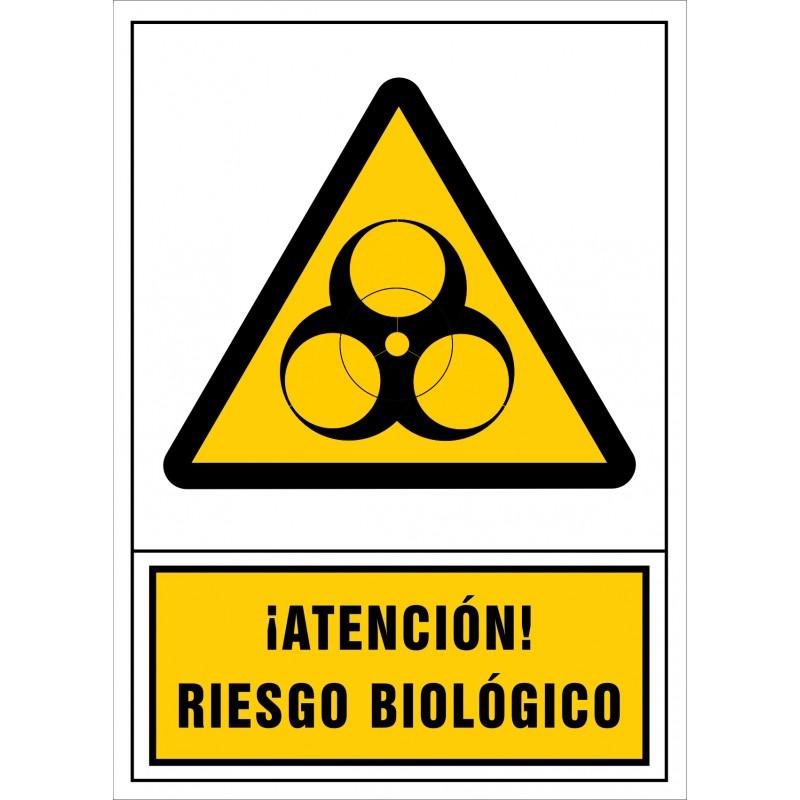 2091S-Señal de ¡Atención! Riesgo biológico - Referencia 2091