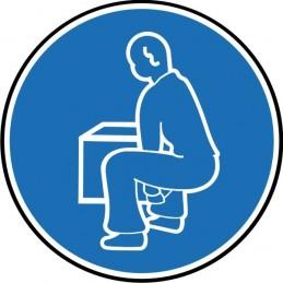 SYSSA Señalizacion - Señal Doble las rodillas para levantar