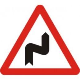 SYSSA,Señal Curvas peligrosas, hacia la derecha