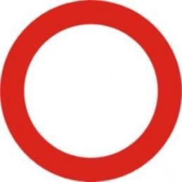 Marca SYSSA - Señal Circulación prohibida - Tipo Económica 50 cm diámetro