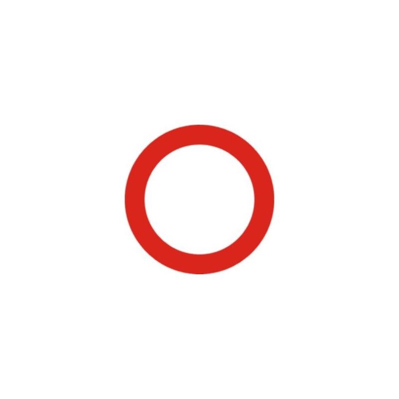 R100-Circulación prohibida - Tipo Económica