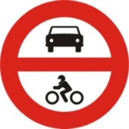 SYSSA - Señal Vial Entrada prohibida a vehículos de motor - Referencia R102 - TIPO ECONOMICA