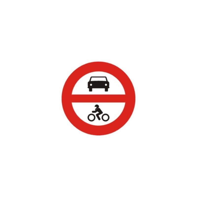 R102-Señal Vial Entrada prohibida a vehículos de motor - Referencia R102 - TIPO ECONOMICA