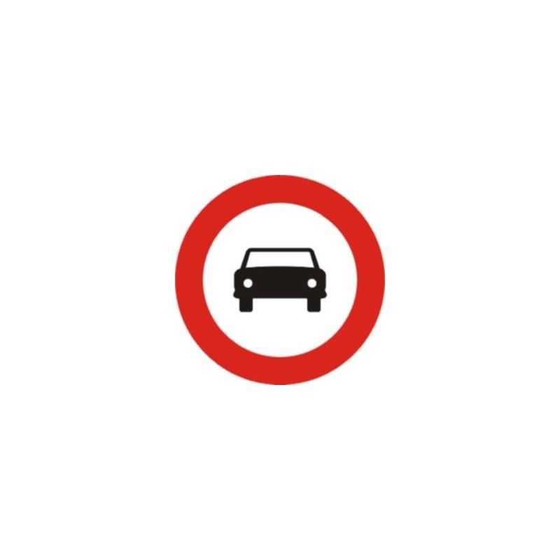 R103-Señal Vial Entrada prohibida vehículos de motor, excepto moto ciclos de dos ruedas sin sidecar - Referencia R103 Económica