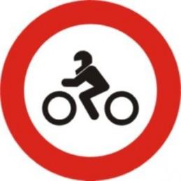 Señal Vial Entrada prohibida a motocicletas - Referencia R104 Económica