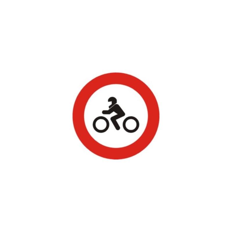 R104-Señal Vial Entrada prohibida a motocicletas - Referencia R104