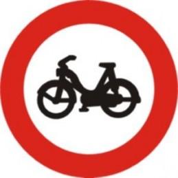 SYSSA - Señal Vial Entrada prohibida a ciclomotores - Referencia R105 Económica