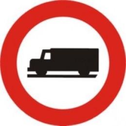 SYSSA - Señal Vial Entrada prohibida a vehículos destinados a transporte de mercancías - Referencia R106 Económica