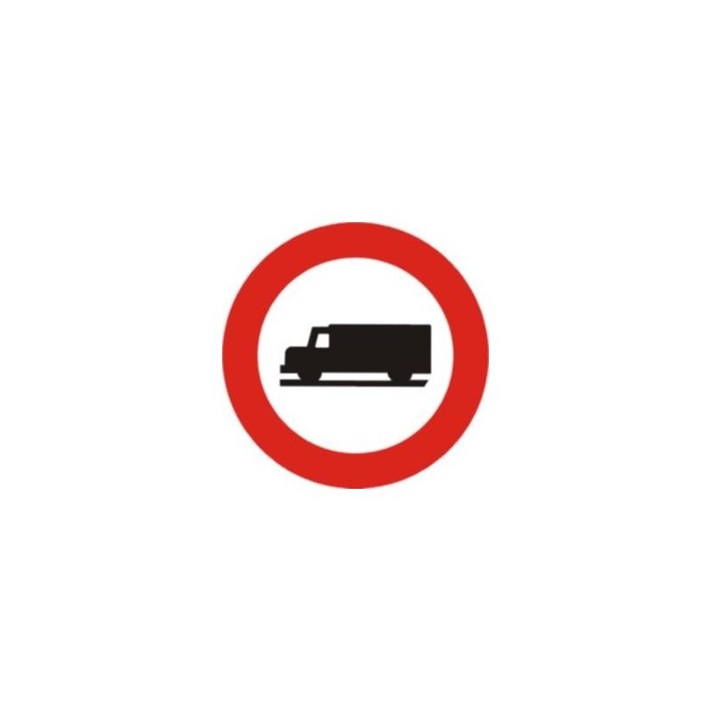 R106-Entrada prohibida a vehicles destinats a transport de mercaderies - Referencia R106 Económic
